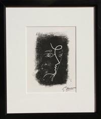 profil de femme from souvenirs de portraits d'artistes by georges braque