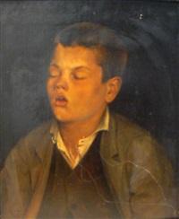 portrait d'enfant se reposant by e. lembeye