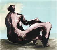 reclining woman i by henry moore