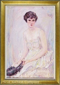 portrait of elise mason smith, later mrs. harry turner howard, jr. by robert reid