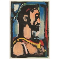 passion(from les fleurs du mal) by georges rouault