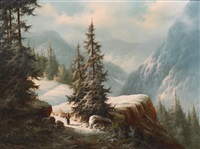 mountain trail by ludwig muninger