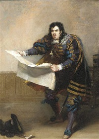 portrait of john van den hoff, as sir giles overreach by robert william buss