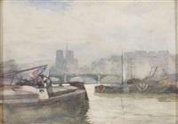 on the seine, paris by robert weir allan