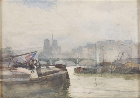 on the seine paris by robert weir allan