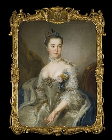 portrait of princess charlotte amalie wilhelmine von schleswig holstein sonderburg plön seated by stefano torelli