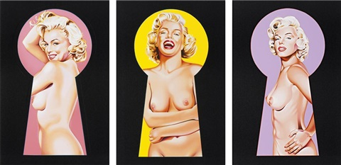 peek a boo marilyn 1 2 and 3 3 works by mel ramos