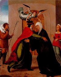el abrazo de joaquín y santa ana by juan correa de vivar