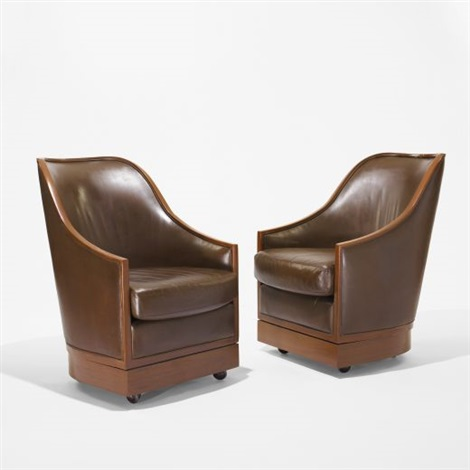 pair of lounge chairs from the four seasons new york by im pei