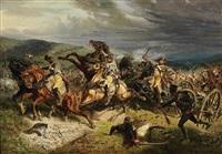 szene aus dem napoleonischen krieg 1813 by otto clemens fikentscher