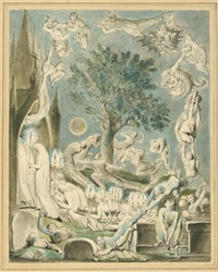 the gambols of ghosts according with their affections previous to the final judgement by william blake