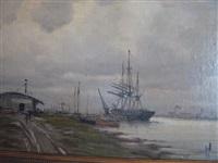 bateau à quai by amélie burdin