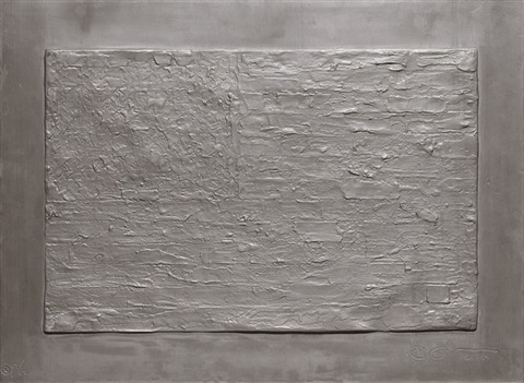 flag from lead reliefs by jasper johns