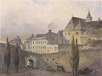 wien motive, stadtansichten von der bastei und verschiedene stadttore (portfolio w/22 works) by johann wilhelm frey
