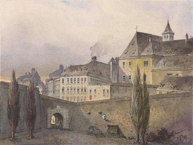 wien motive stadtansichten von der bastei und verschiedene stadttore portfolio w22 works by johann wilhelm frey