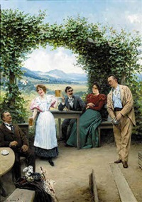 the summer garden party by adolf liebscher