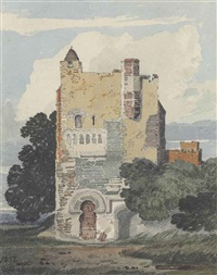 a norman tower by john sell cotman