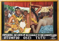 swearing an oath of allegiance to the ashanti king by kwame akoto