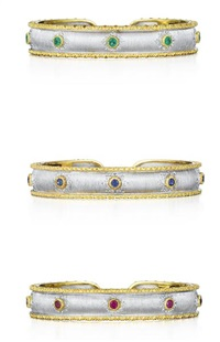 set of cuff bracelets (3 works) by buccellati