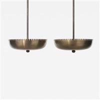 pendant lamps (pair) by hans bergström