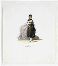 lechthalerin und aus dem thale pfafflar (2 works) (after entwürfen von georg schedler) by franz spitzer