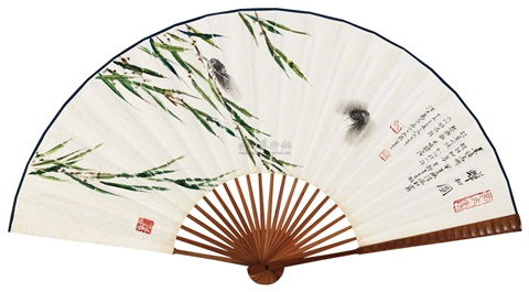 蝉柳 cicada and willow by yi baishi and qi gong