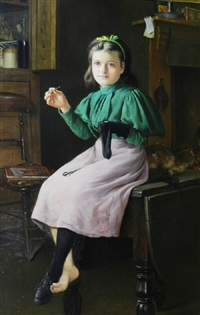 a stitch in time by charles spencelayh