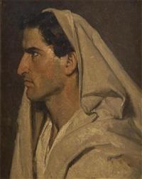 homme de profil by gustave (egidius karel g.) wappers