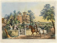 american country life, may morning (after fanny palmer) by nathaniel currier