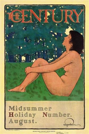 the century, midsummer by maxfield parrish