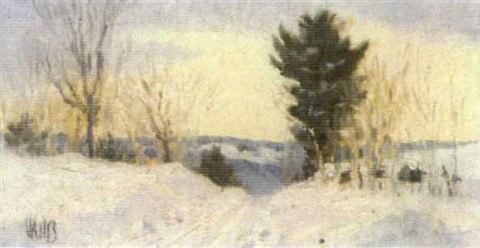 a country road in snow by vivian milner akers
