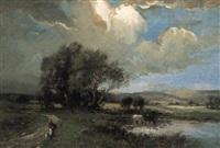 pastoral scene by w. ashton