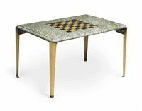 chess table by josef frank