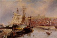 the upper harbour at whitby by richard weatherill