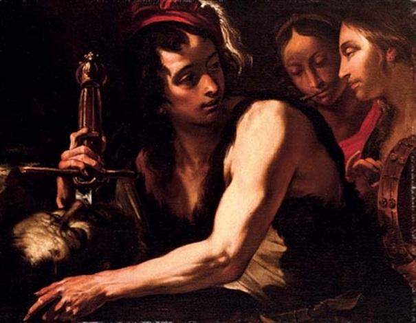 david with the head of goliath by gioacchino assereto