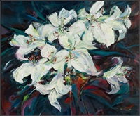 white lilies by shelagh campbell