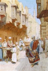 orientalist street scene by federico bartolini