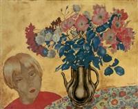 jeune indochinoise au bouquet by alix aymé