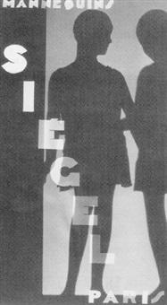 publicité pour les mannequins siegel, paris by andré vigneau