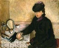 femme à sa table de toilette by samson flexor