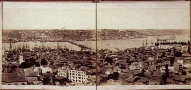panorama de constantinople pris de la tour de galata by j pascal sébah