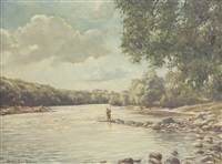 fishing on the tay by william ellis barrington-browne