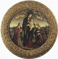 madonna con bambino, santa maria maddalena e santa caterina d'alessandria by niccolò (cartoni) zoccolo