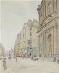 rue saint-paul et église saint-antoine by maurice leloir