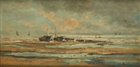 retour des pêcheurs by louis artan de saint-martin