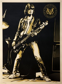dee dee ramone, one two, three, four by shepard fairey