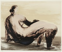 reclining woman ii by henry moore