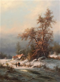 winter eve by ludwig muninger