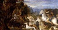 a boar hunt by lambert sustris