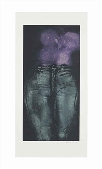 girl in violet shirt, from: blue jeans series by george segal